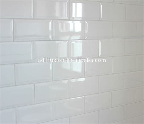 kerzenhalter 7 5 cm blanc brillant biseaut 233 carreaux de m 233 tro 7 5 15 cm 3 x