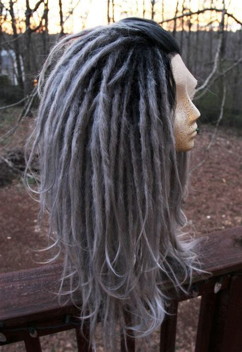 lace front dreadlocks lace front silver ombre synthetic dreadlock wig synthetic