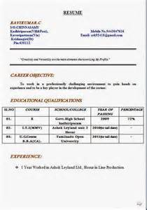 Mca Resume Sles Free Resume Format For Freshers 19 Images 4 Effective Resume Format Inventory Count