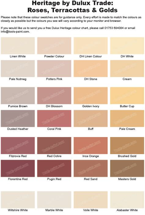 rose terracotta  gold shades   dulux heritage