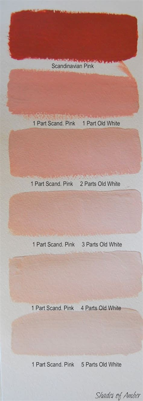 scandinavian color shades of amber chalk paint color theory scandinavian pink