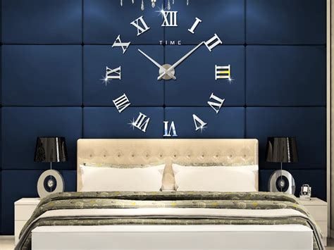 roman home decor m sparkling diy wall clock roman numeral scales home decor