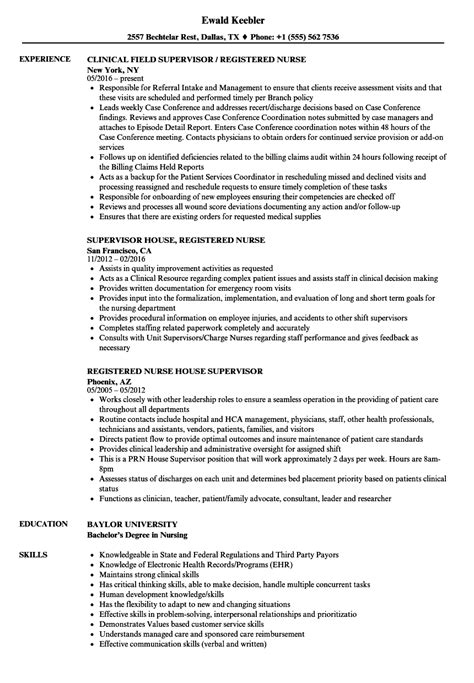 Telephone Center Supervisor Resume by Nursing Supervisor Resume Talktomartyb