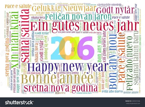 why is new year different to uk happy new year 2016 in different languages stock photo
