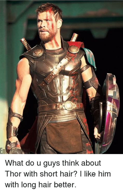 what guys think about the hair down there jezebel what do u guys think about thor with short hair i like