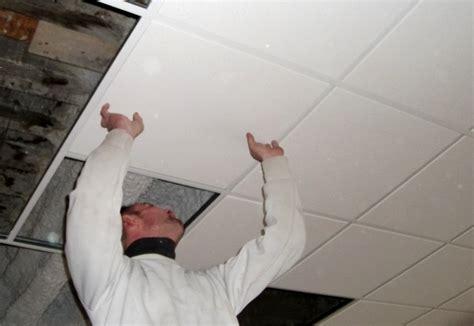 j installe un plafond dans du b 233 ton