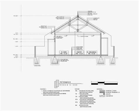 tutorial gambar potongan tutorial desain rumah dengan autocad rumah sel