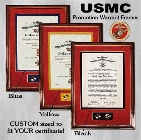 officer promotion certificate frame warrant