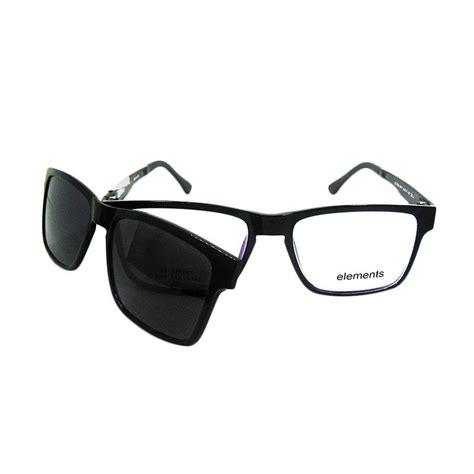 Kacamata Clip On jual kacamata clip on 8011 c3 black black harga