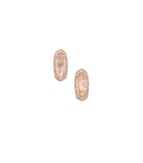 rose gold aston kendra scott aston peach illusion earrings in rose gold