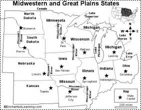 us midwest region map quiz midwest and great plains states map quiz printout