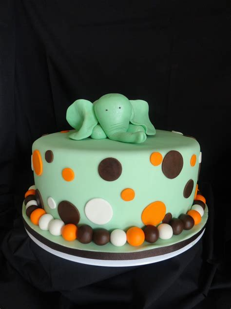 Elephant Baby Shower Cake by Pink Cake Elephant Baby Shower Cake