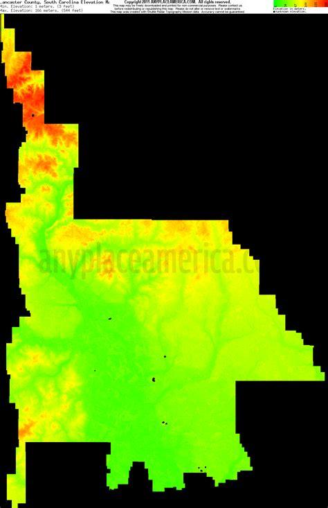 carolina elevation map free lancaster county south carolina topo maps elevations