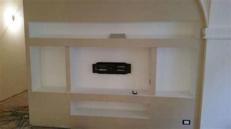 mobili in cartongesso per tv creazione e realizzazione porta tv in cartongesso idee