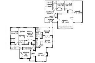 single story house plans with mother law apartment home laws floor