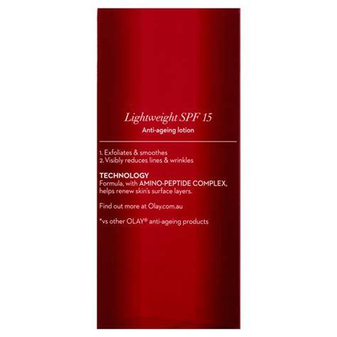Olay Regenerist Revitalising Uv Lotion 75ml buy olay regenerist revitalising lotion 15 75ml at chemist warehouse 174