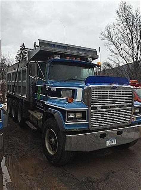ford ltl 9000 dump truck 1995 ford ltl 9000 tri axles dump truck for sale in ny