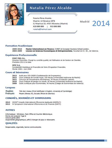 Plantillas De Curriculum Vitae En Frances Plantillas Y Modelos De Curriculum En Franc 233 S Trabajar En Francia Cvexpres