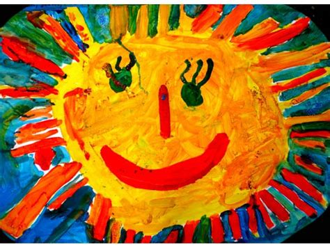 Gemalte Bilder Kindern by Kindern Gemalte Sonne Fr 252 Hlingsgottesdienst Der