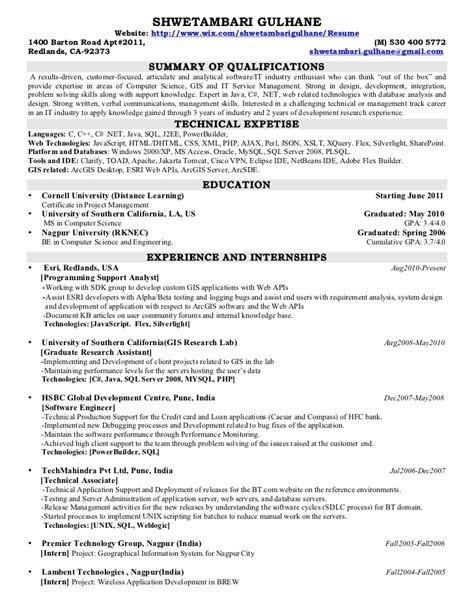 resume gis resume ideas