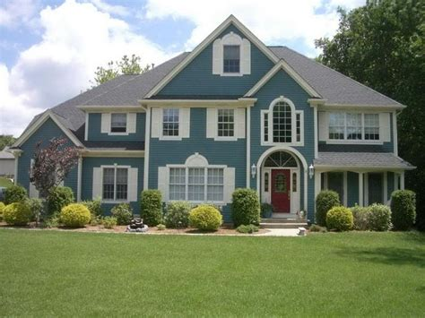 Blue House Exterior Colour Schemes | blue exterior house paint colors our home pinterest