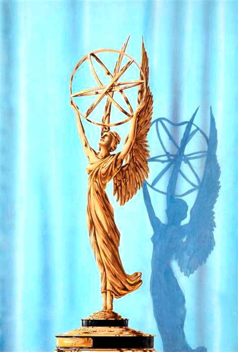 New Diorissimo Design By Artis Emmy Rossum the emmy statuette television academy