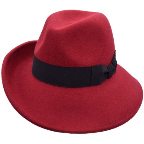 accessories womens wide brim wool felt fedora hat