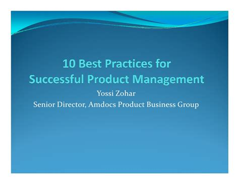 Best Mba Schools For Product Management by 10 Best Practices Of Software Product Management