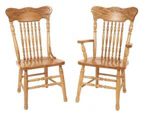 Amish Oak Dining Chairs Amish Pressback Dining Chair