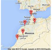Image Gallery Morocco Airports Map