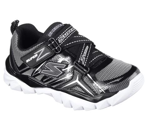 skechers boys electronz black silver athletic shoe
