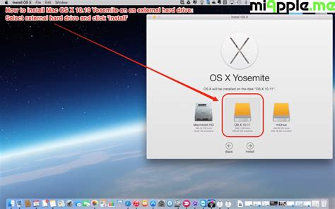 how to install mac os x 10 10 yosemite on an external