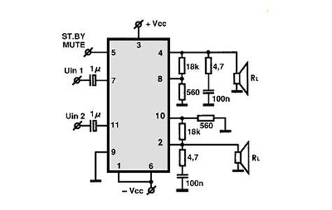 tda7265 lifier circuit diagram tda7265 audio ic electronic circuits tv schematics audio