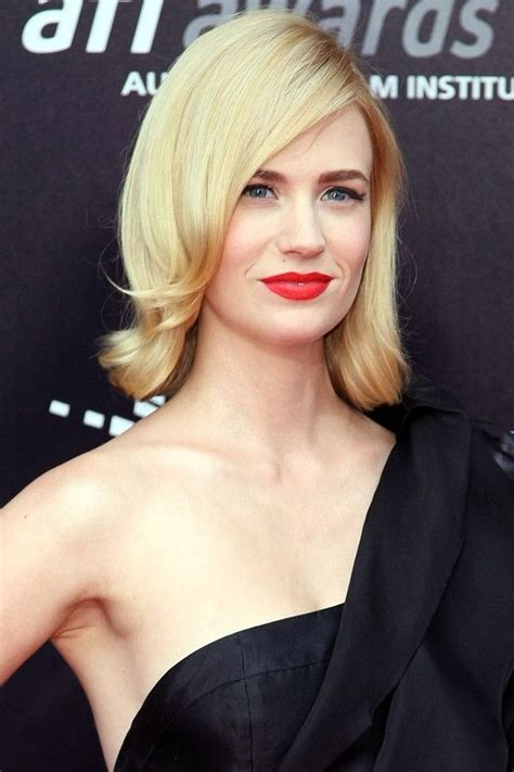 larird hair styles blonde beauty january jones gives us a lesson in vintage