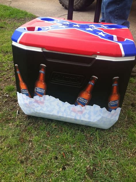 diy painted cooler with bud light bottles craftyy