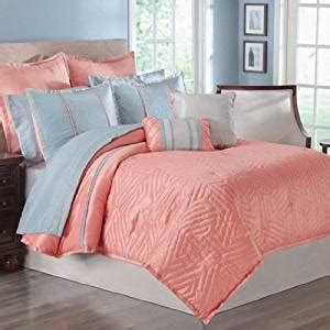coral colored comforter set com 16pc luxury peach coral queen comforter set