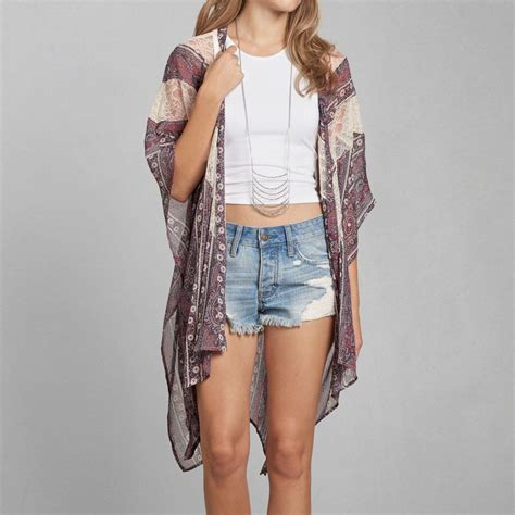 pattern lace duster kimono pattern lace duster kimono from abercrombie fitch