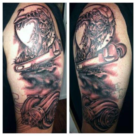 diesel tattoos unfinished diesel sleeve tattoo