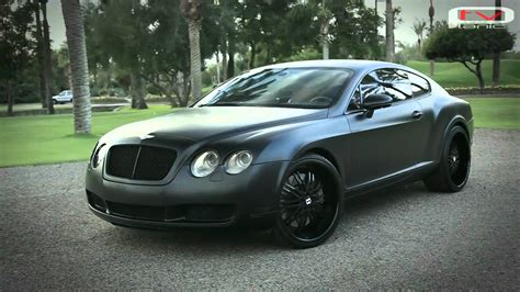 bentley black matte bentley continental gt black matte youtube