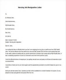 Resignation Letter For Nursing Aide 31 Formal Resignation Letters