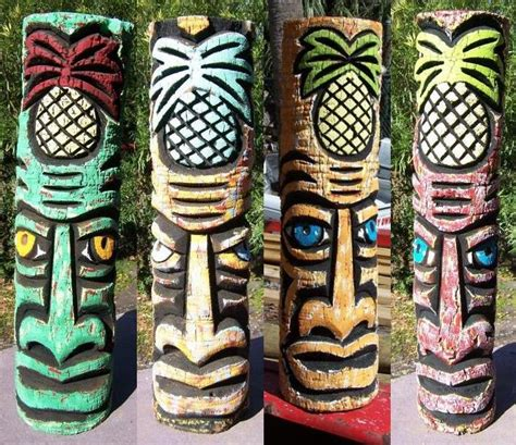 Sevendays Masker carved hawaiian polynesian tiki statues for sale