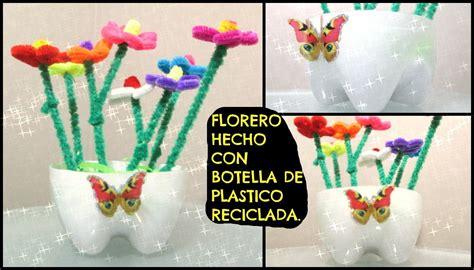 floreros con botellas de plastico florero hecho con botella de plastico reciclada para el