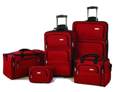 samsonite luggage set five piece nested set luggage pros