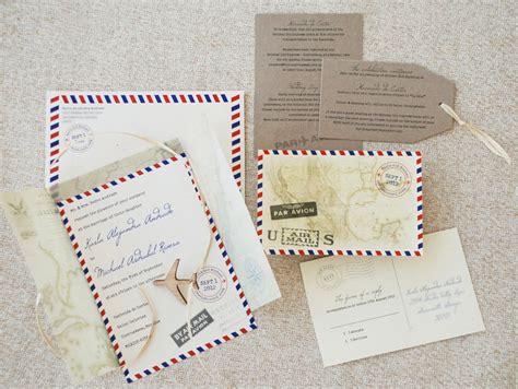 mail for wedding invitation vintage air mail wedding invitation mexico