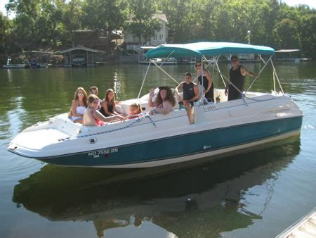ozarks boat rental boat rentals lake of the ozarks the getaway boat pwc