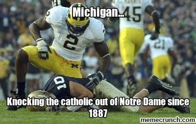 Notre Dame Football Memes - michigan owns notre dame