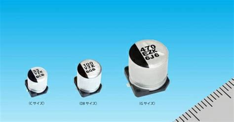 aluminum polymer capacitor voltage derating panasonic commercializes its surface mount conductive polymer aluminium capacitors for power and