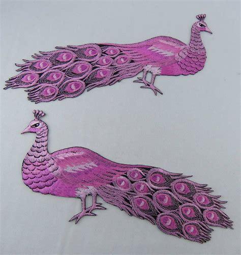 Blumen Sticker Zum Aufnähen by 2 X Pfau Pink Sticker Zum Aufb 252 Geln Oder Aufn 228 Hen