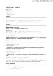 Construction Worker Resume Exle by Resume Sle For Construction Worker Free Resumes Tips