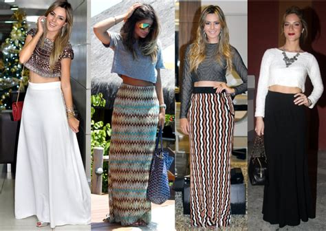 Db Maxi Rima blusa cropped saia longa para festa 3 ideias para eu